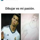 Un-meme-chistoso-de-dibujar-es-mi-pasion-Cristiano-Ronaldo